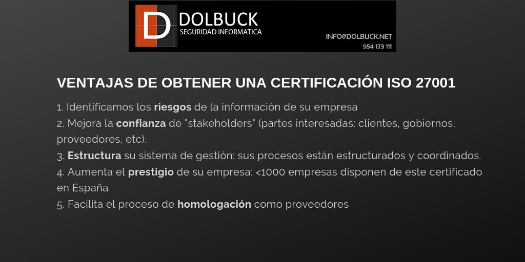VENTAJAS DE LA NORMA ISO 27001