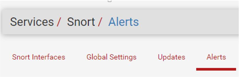 En Alerts podremos ver las alertas que generan las reglas introducidas en pfSense.